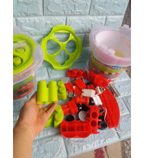 Thùng đồ chơi thả khối và xe xe cứu hỏa Enfa