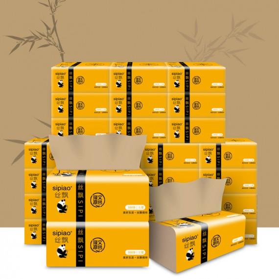 Combo 10 gói giấy ăn gấu trúc Nhật Bản (1gói 300 tờ)