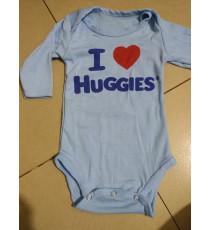 Body cotton cho bé Huggies 0-6 tháng