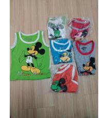 Áo thun lạnh 3 lỗ cho bé Mickey