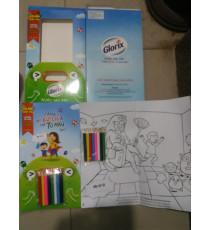 Bộ sách hình và bút chì màu tô cho bé Glorix