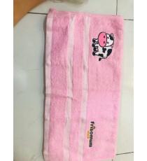 Khăn tắm cotton cho bé Friso màu hồng