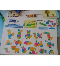 Bộ đồ chơi sáng tạo vườn thú Enfa hộp thiếc
