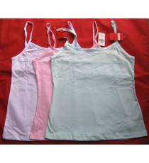 Áo 2 dây cotton Vera màu hồng