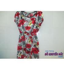 Đầm Tole vải  hoa NỮ freesize