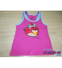 Áo 3 lỗ bé gái Angry Birds màu hồng