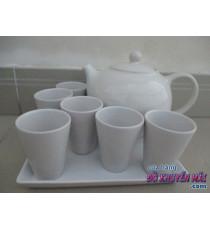 Bộ ấm trà bằng sứ Ikea