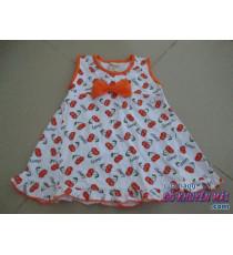 Đầm thun ngắn vải cotton Cherry