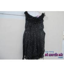 Đầm đen chiếu kim tuyến cho bé