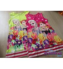 Đầm 3D viền sọc cho bé Disney