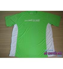 Áo thun mát tập thể dục nam xanh lá