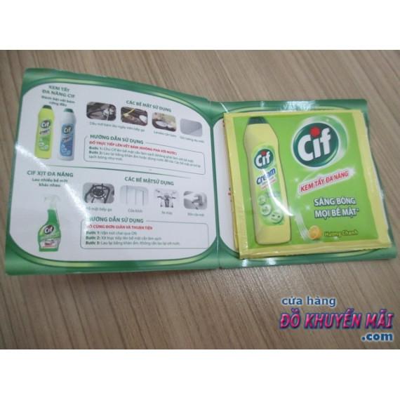 Set 2 gói lau chùi đa năng CIF 40ml