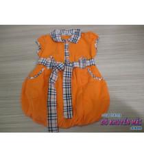 Đầm kiểu trái bí xinh xắn bé gái Burbery
