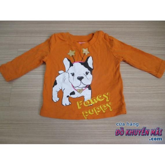 Áo thun tay dài cho bé hình chú cún Fancy