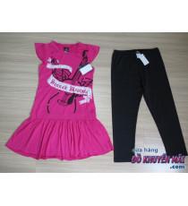Bộ áo dáng dài + quần legging bé gái Disney