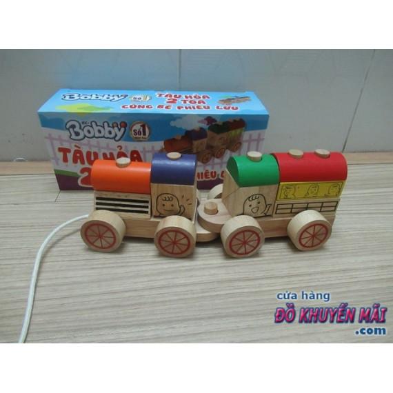 Đồ chơi ráp xe lửa bằng gỗ Nam Hoa