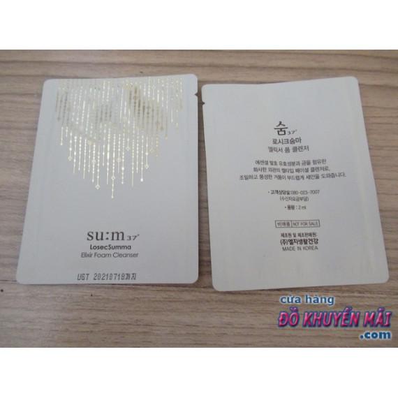 Gói sữa rửa mặt tinh chất vàng Sum 37