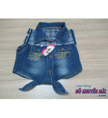 Áo jean cột dây cho bé gái