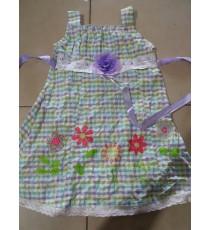 Đầm vải xốp caro Youngland