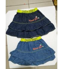 Chân váy jean tầng cho bé gái