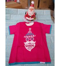 Áo + nón noel chớp đèn cho bé đón Giáng Sinh màu hồng