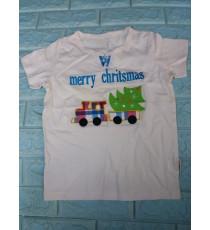 Áo thun cotton mịn cho bé đi chơi Giáng Sinh