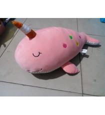 Chú cá nhồi bông màu hồng đáng yêu Unidry
