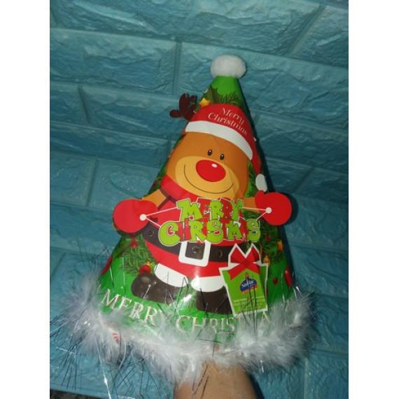 Nón Noel có đèn chớp cho bé Abbott