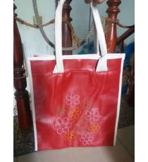 Túi xách thêu hoa mai màu đỏ