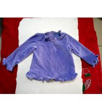 Áo thun chất nhung tay dài cho bé màu tím