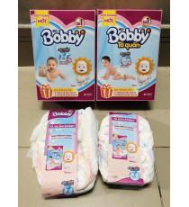 Hộp  2 miếng tả dán + 2 miếng tả quần Bobby size M