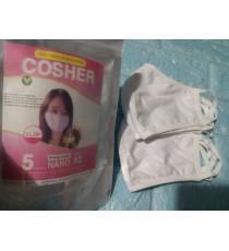 Túi 5 khẩu trang kháng khuẩn người lớn Cosher