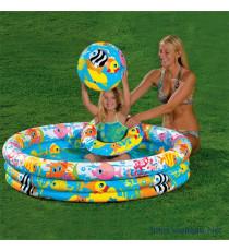Bộ hồ bơi +phao+bóng bơm hơi Intex
