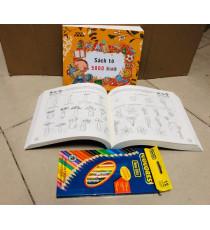 Bộ sách tô màu 5000 hình và chì màu