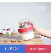 Hộp nhựa 2 ngăn Lock&Lock Twist Two Way LLS221 - 360ML + 310ML
